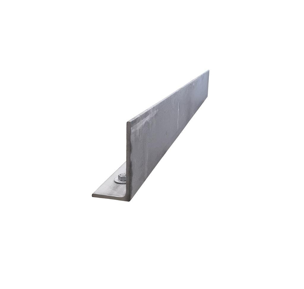 Hoeklijn 150x100x10 mm. verzinkt. 2000 mm.