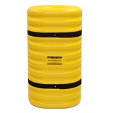 Kunststof kolombeschermer binnenw. 250x250 mm. Hoog 1070mm. geel