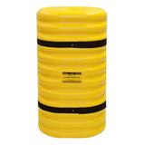 Kunststof kolombeschermer binnenw. 150x150 mm. Hoog 1070mm. geel