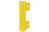 eindstuk type B buis rond 76 mm. v.v. 3 lippen geel(RAL1023)