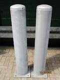 Afschermpaal  219x4,5x1250 mm. op voetplaat  thvz