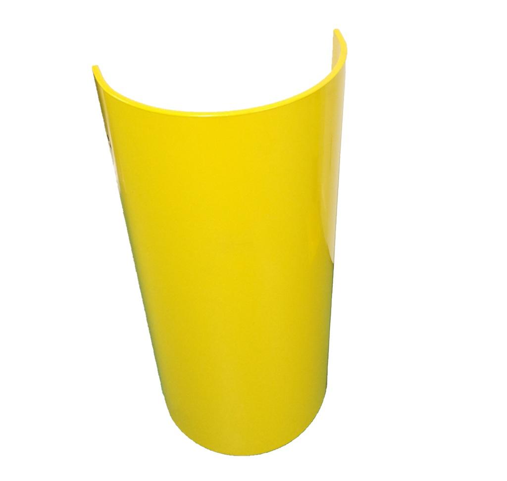 Kolombeschermer rond 450 hoog 750, dik 8mm. geel