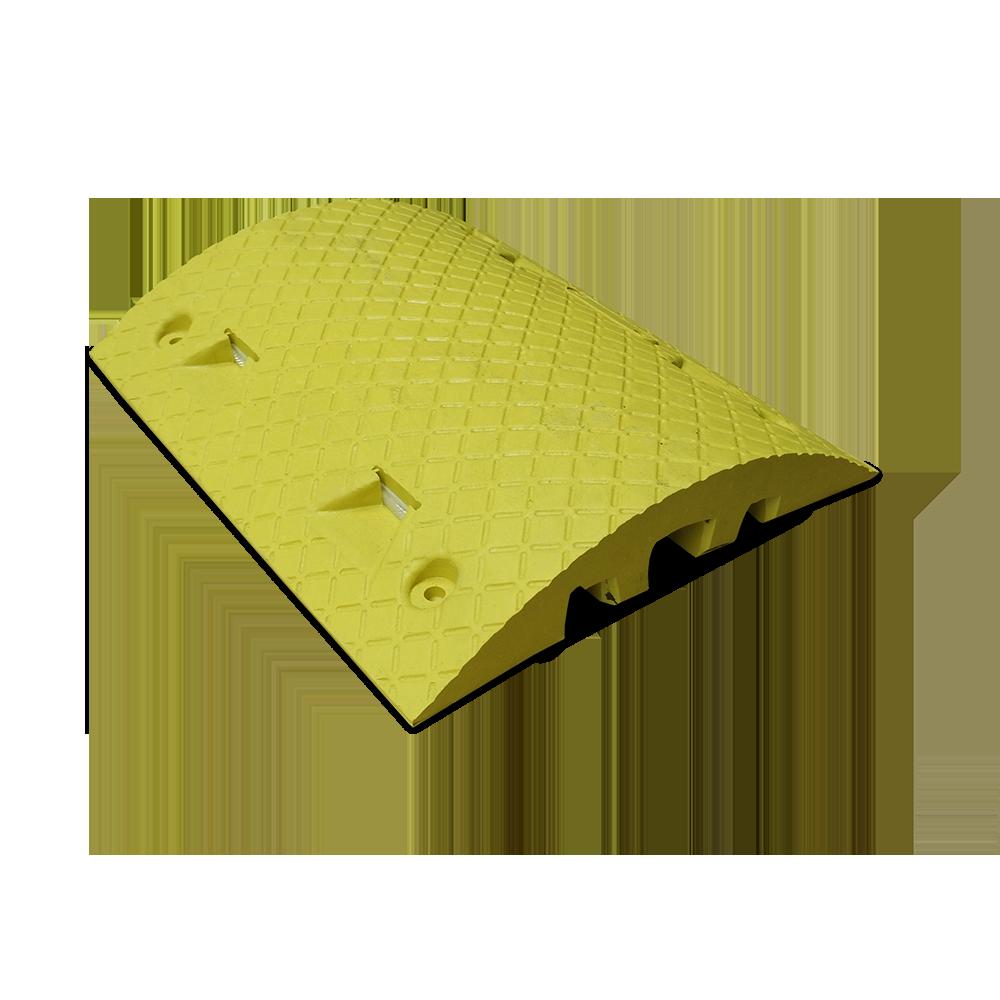 Verkeersdrempel middenelement geel 490x400x50 mm. kleurvast