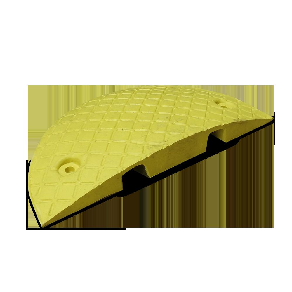 Verkeersdrempel eindelement geel 210x400x50 mm. kleurvast