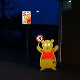 Traffic Teddy | Alu bord 1e Bord Klasse 3