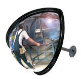 Kwart bol spiegel Ø45 met telescoop montage 30-50 cm