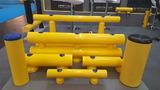 Kunststof doorrijbeveiliging ø 120mm. 1500mm.x175mm smalle voetplaat