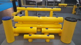 Kunststof doorrijbeveiliging 2-hoog ø70 mm. -1000mm.x230mm.