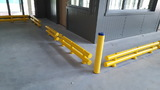 Kunststof doorrijbeveiliging 2-hoog ø70 mm. -500mm.x230mm.