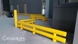 kunststof doorrijbeveiliging 2-hoog ø120 mm. -1500mm.x340mm.