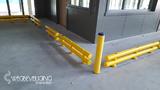 Kunststof doorrijbeveiliging 2-hoog ø120 mm. -1000mm.x340mm.