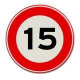 Verkeersbord met snelheidsaanduiding 15