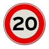 Verkeersbord met snelheidsaanduiding 20