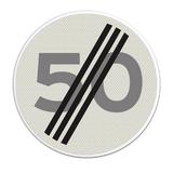 Verkeersbord A2 einde maximum snelheid 50 km/h