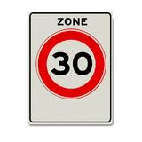 Verkeersbord A1-30-ZB 30 km zone