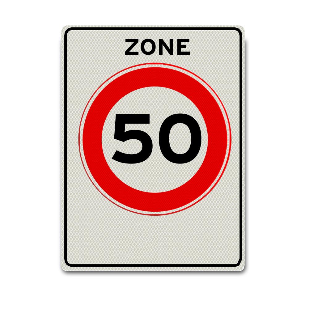 Verkeersbord A1-50-ZB 50 km zone