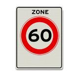 Verkeersbord A1-60-ZB 60 km zone