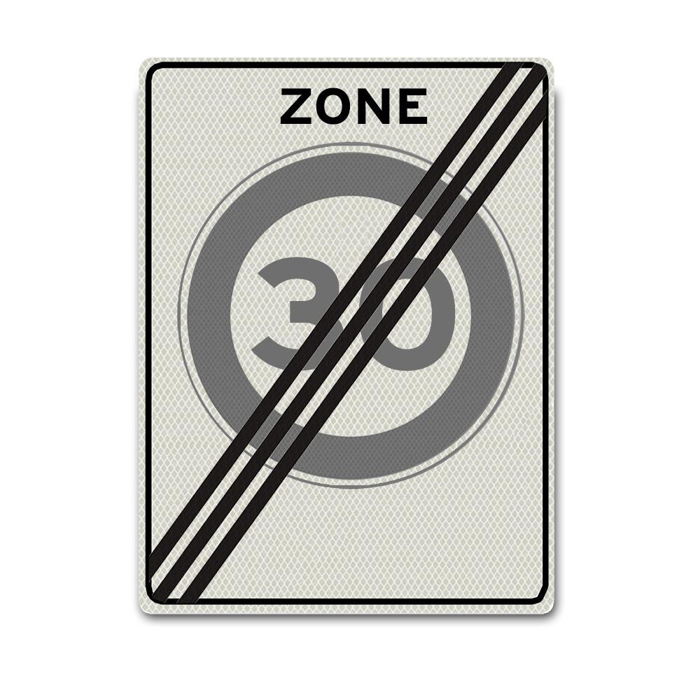 Verkeersbord A2-30-ZE einde 30 km zone