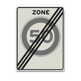Verkeersbord A2-50-ZE einde 50 km zone