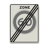 Verkeersbord A2-60-ZE Einde 60 km zone
