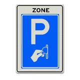 Verkeersbord BW111-ZB Zone betaald parkeren