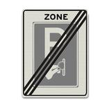 Verkeersbord BW111-ZBE Eind zone betaald parkeren