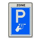 Verkeersbord BW112-ZB Zone betaald parkeren