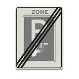 Verkeersbord BW112-ZBE Einde zone betaald parkeren