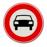 Verkeersbord C6 Gesloten voor motorvoertuigen