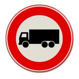 Verkeersbord C7 verboden voor vrachtwagens