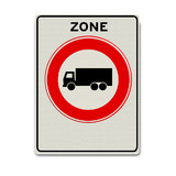 Verkeersbord C12-ZB zone gesloten voor vrachtwagens