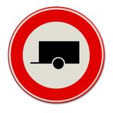 Verkeersbord C10 - Gesloten voor motorvoertuigen met aanhangwagen