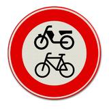 Verkeersbord C15 - Gesloten voor fietsen, bromfietsen en voor gehandicaptenvoertuigen