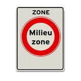Verkeersbord C22azb - Zone milieu zone