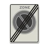 Verkeersbord E1ZE - Einde zone parkeerverbod