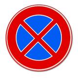 Verkeersbord E2 - Verboden stil te staan