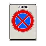 Verkeersbord E2-ZB - Zone verboden stil te staan