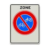 Verkeersbord E3-ZB -Zone verbod fietsen en bromfietsen te plaatsen