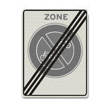 Verkeersbord E3-ZE- Einde zone verbod fietsen en bromfietsen te plaatsen