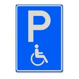 Verkeersbord E6 - Gehandicaptenparkeerplaats