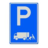 Verkeersbord E7 - Parkeergelegenheid voor het onmiddellijk laden en lossen van goederen