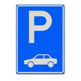 Verkeersbord E8 - Parkeergelegenheid alleen bestemd voor auto's