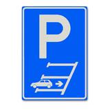 Verkeersbord E8 - Achteruit in parkeren