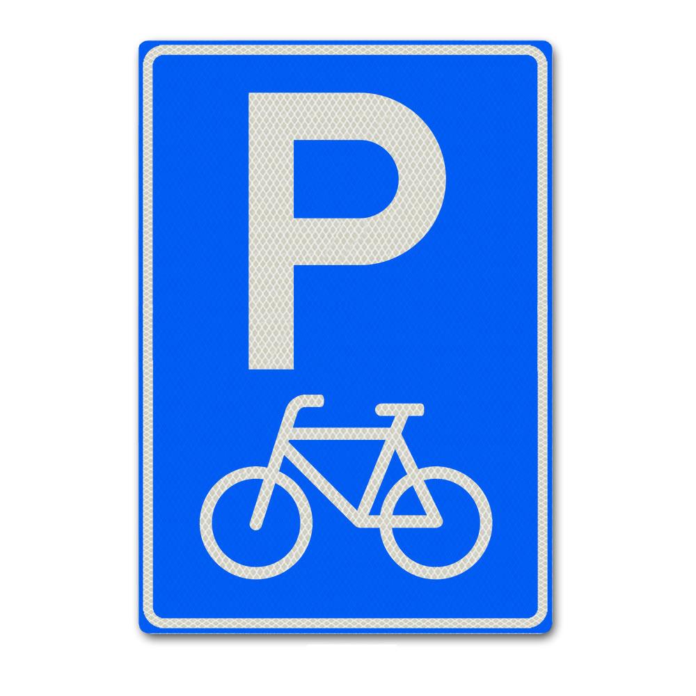 Parkeerbord E8F - Parkeergelegenheid alleen bestemd voor fietsen