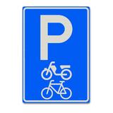 Verkeersbord E8G - Parkeergelegenheid alleen bestemd voor fietsen, bromfietsen en gehandicaptenvoertuigen