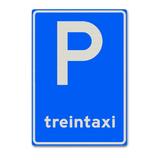 Verkeersbord C8-10 Parkeergelegenheid alleen bestemd voor treintaxi's