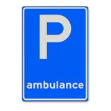 Verkeersbord E8-13 Parkeergelegenheid alleen bestemd ambulance