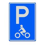 Verkeersbord E8-6 Parkeergelegenheid alleen bestemd voor motorfietsen
