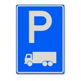 Verkeersbord E8-3 Parkeergelegenheid alleen bestemd voor vrachtwagens