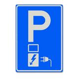 Verkeersbord E80 -Parkeergelegenheid voor het opladen van elektrische voertuigen